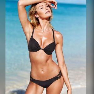 Victoria's Secret swim Crochet bikini set black